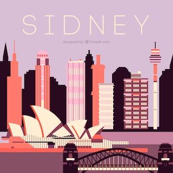 Sidney skyline hintergrund