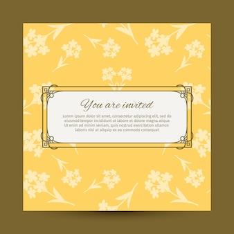 Sie sind eingeladen, gelbe karten zu entwerfen