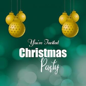 Sie sind eingeladen, weihnachten party hintergrund