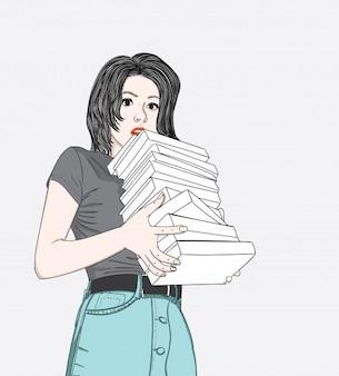Sie verbringt oft freizeit beim lesen
