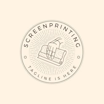 Siebdruck-logo aus seide