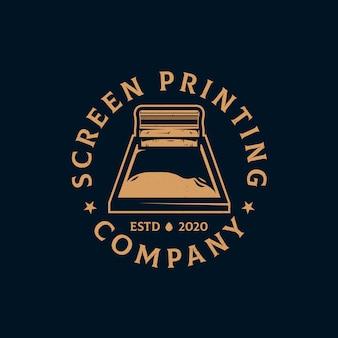 Siebdruck vintage logo vorlage