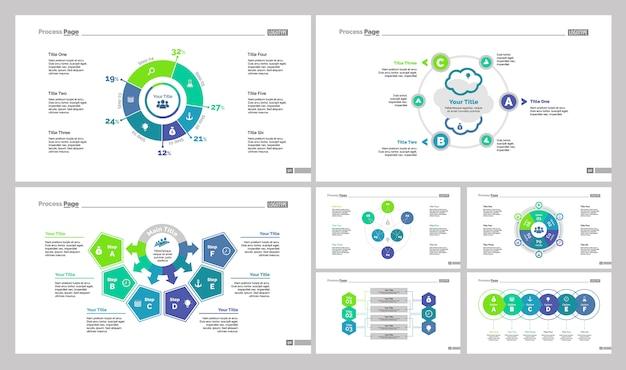 Sieben business slide vorlagen set