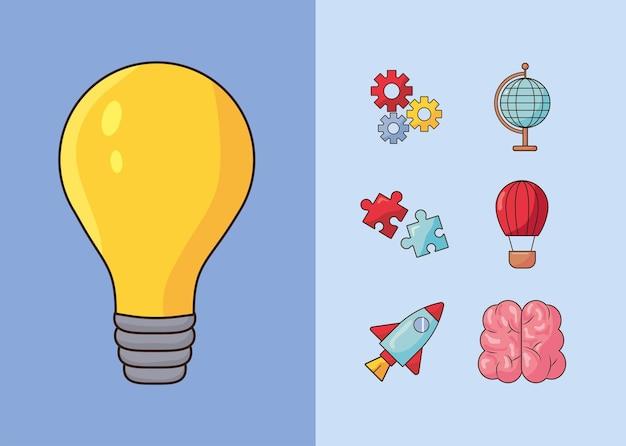 Sieben kreative symbole
