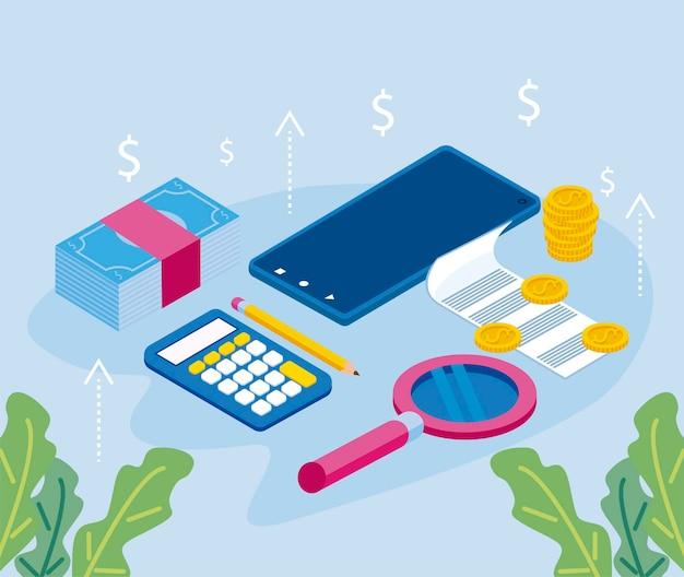 Sieben persönliche finanzsymbole