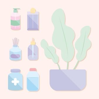 Sieben selbstpflege-symbole