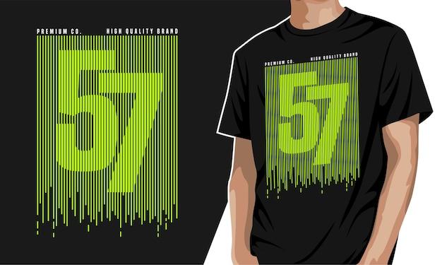 Siebenundfünfzig - t-shirt zum drucken
