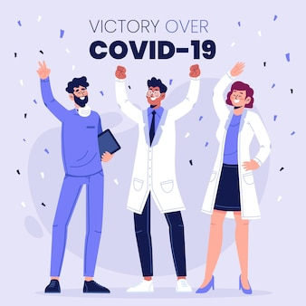 Sieg über coronavirus cocnept