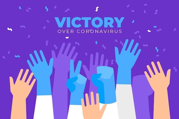 Sieg über das coronavirus-thema