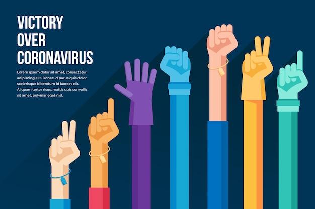 Sieg über das coronavirus
