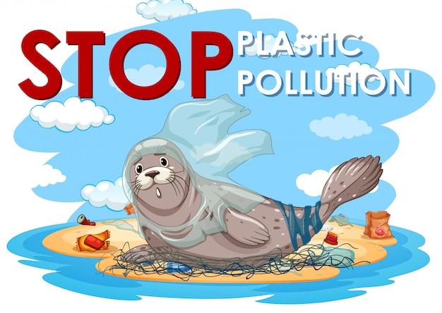 Siegel und plastiktüten