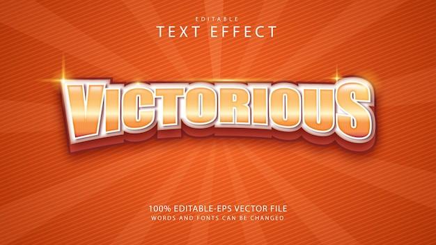 Siegreicher textstileffekt