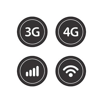 Signal icon designvorlage
