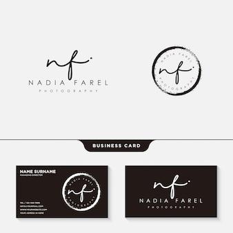 Signatur-logo oder visitenkartenvorlage