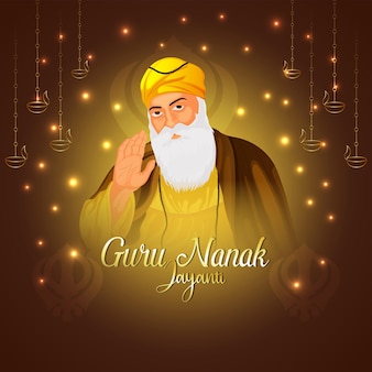 Sikh festival glückliche guru nanak jayanti feierkarte