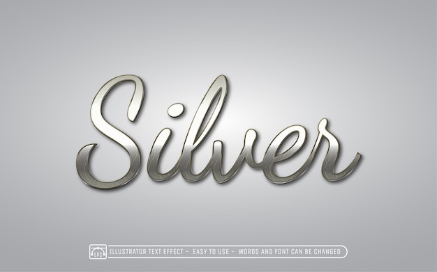 Silber - bearbeitbarer texteffektstil