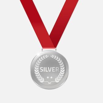 Silber champion medaillen mit band.