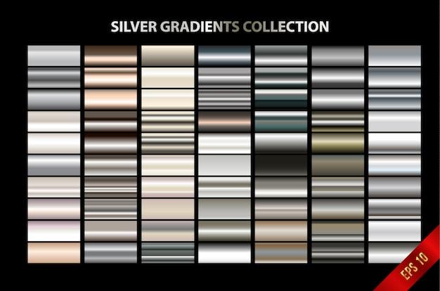 Silber farbverläufe sammlung
