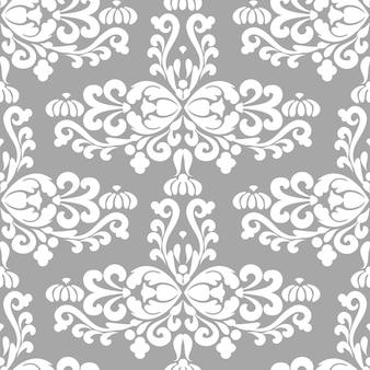 Silber islamische ornament nahtlose muster dekorative textur orientalische ornament damast vintage