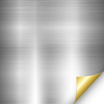 Silber metall gold ecke