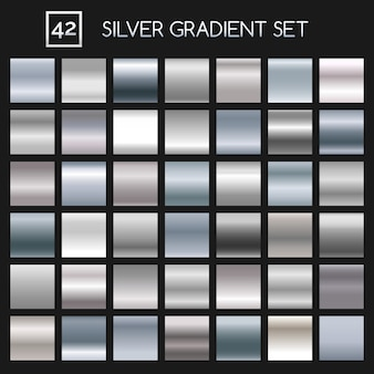 Silber metallic farbverlauf festgelegt