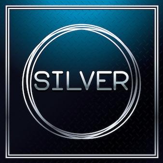 Silber metallic schriftart