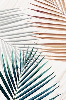 Silber mit grünem und braunem palmblatt-gemustertem hintergrund