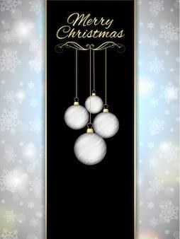 Silber schneeflocken weihnachtshintergrund