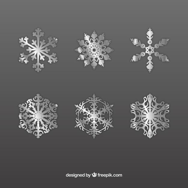 Silber schneeflocken