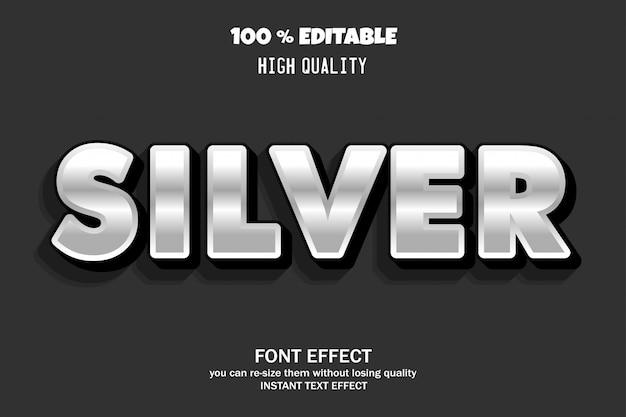 Silber, schrifteffekt