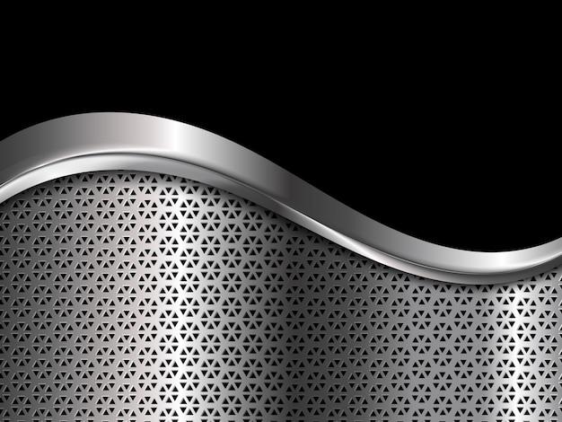 Silber und schwarzer metallischer hintergrund. abstrakte illustration.