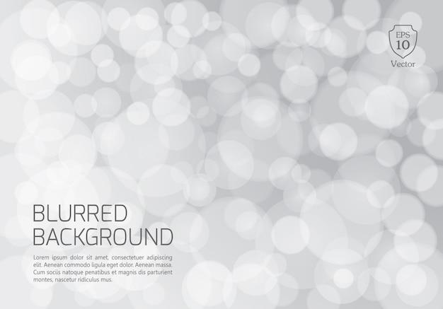 Silber unscharfer hintergrund mit funkelnden lichtern