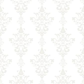 Silber vintage nahtlose tapete. hintergrund endloses wiederholungsvektorillustrationsdesign