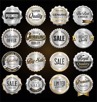 Silberabzeichen und etiketten in premium-qualität