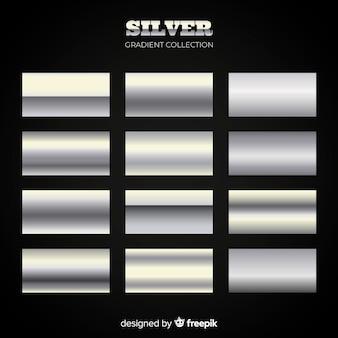 Silberfarbene packung