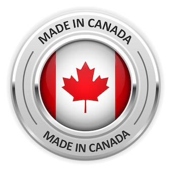 Silbermedaille made in canada mit flagge