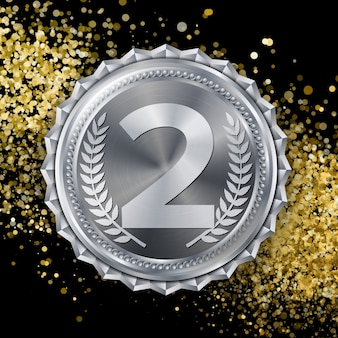 Silbermedaille, silber 2. platz