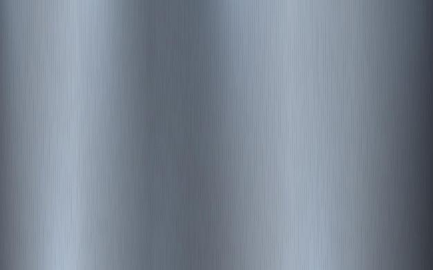 Silbermetallischer farbverlauf mit kratzern. oberflächeneffekt der oberfläche von titan, stahl, chrom, nickelfolie.