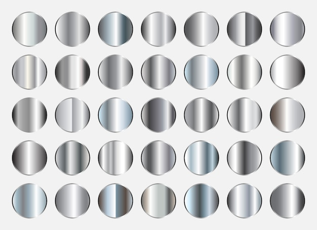 Silberne farbverläufe