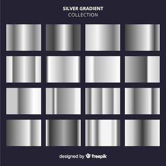 Silberne farbverlaufssammlung