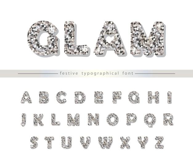 Silberne glitter schrift für urlaub design.