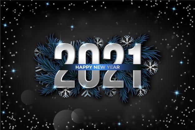 Silberne neujahr 2021 hintergrund