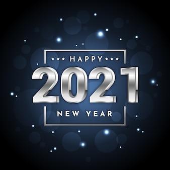 Silberne neujahr 2021 konzept