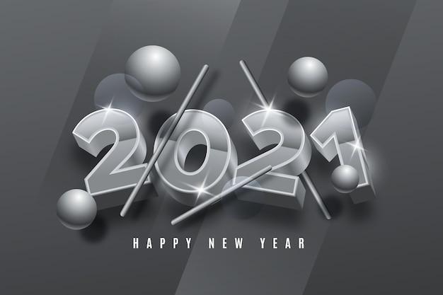 Silberne neujahrshintergrund
