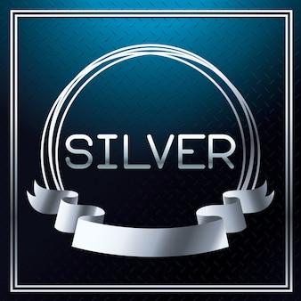 Silberne schrift