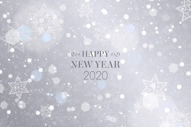 Silberne tapete des neuen jahres 2020