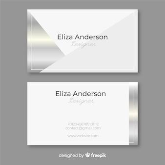 Silberne visitenkarte
