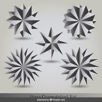 Silbernen sternen kollektion