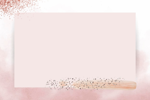 Silberner glitter auf rosa rahmenvektor