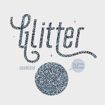 Silberner glitzer. silberschimmernde textur